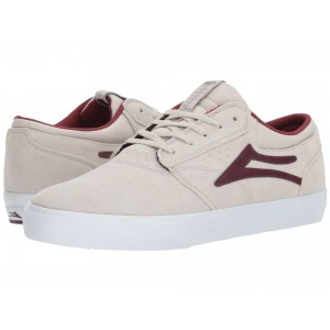 Griffin White/Burgundy Suede