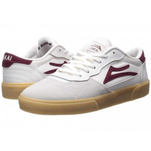 Cambridge White/Burgundy Leather