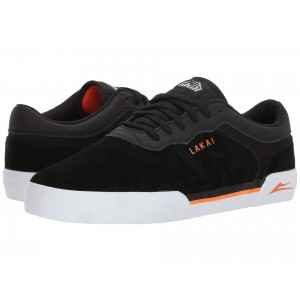 Lakai Staple Black/Orange Suede