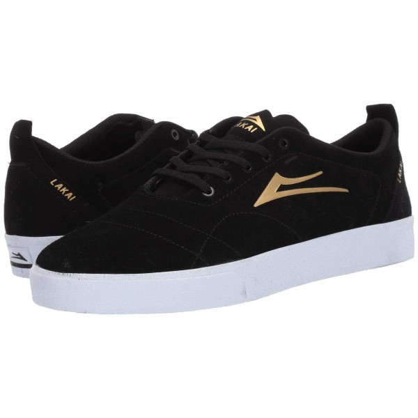 Bristol Black/Gold Suede