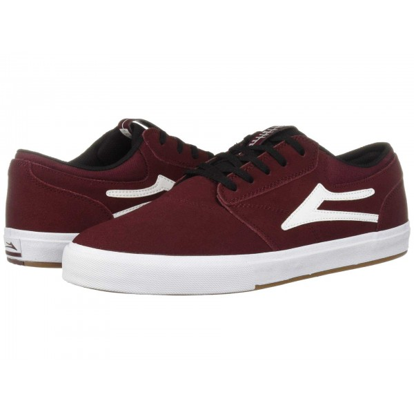 Griffin Burgundy/Black Suede
