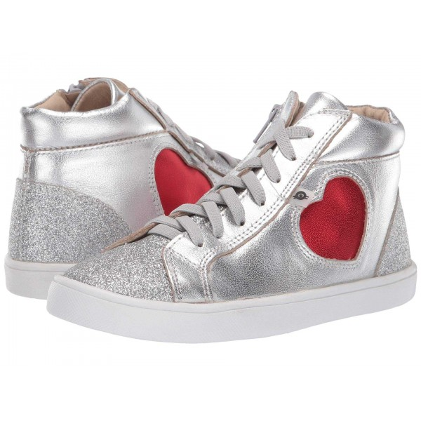 Hearty High Top (Toddler/Little Kid) Silver/Glam Argent/Red Foil