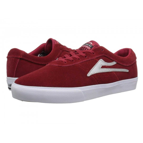 Lakai Sheffield Red/Silver Suede